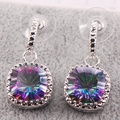 Rainbow Simulated Topaz 925 Sterling Silver Earrings TE456