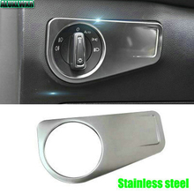 Автомобильная матовая фара из нержавеющей стали, светильник с переключателем, защитная накладка для Volkswagen VW Tiguan mk2