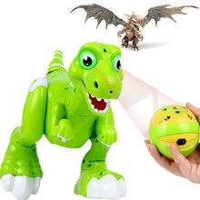 Dinosaurio robot de control remoto robot dinosaurio aerosol inteligente juguete del bebé dinossauro mascota Dino juguetes radio control juguete robot