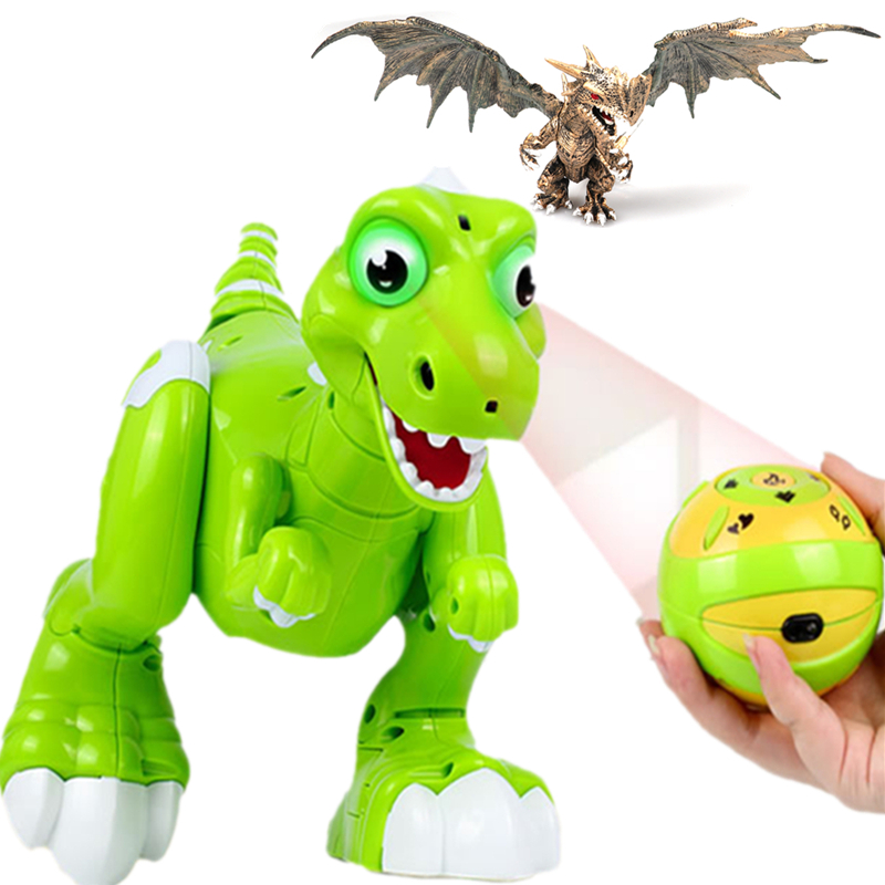 RC Dinosaur Robot Toys Gesture Sensor Interactive Remote Control Robotic Spary Dinosaur Smart Electronic Toys Radio Controlled-in RC Robots & Animals from Toys & Hobbies