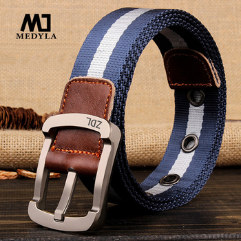 MEDYLA Outdoor Sports Tactical Belts Military Canvas Belt for Mens Alloy Buckle Belts Nylon Ceinture Jeans Casual Designer Strap
