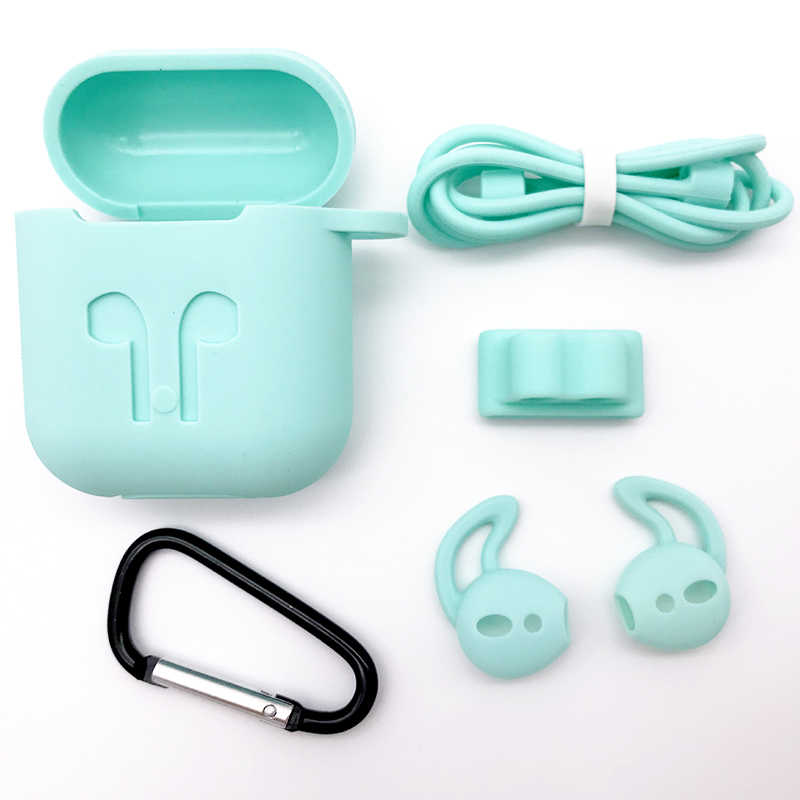 7750af09b7b ... 5 in 1 Silicone Case for Airpods Earphone wireless Bluetooth earphone  sleeve protector cover Shock Proof ...