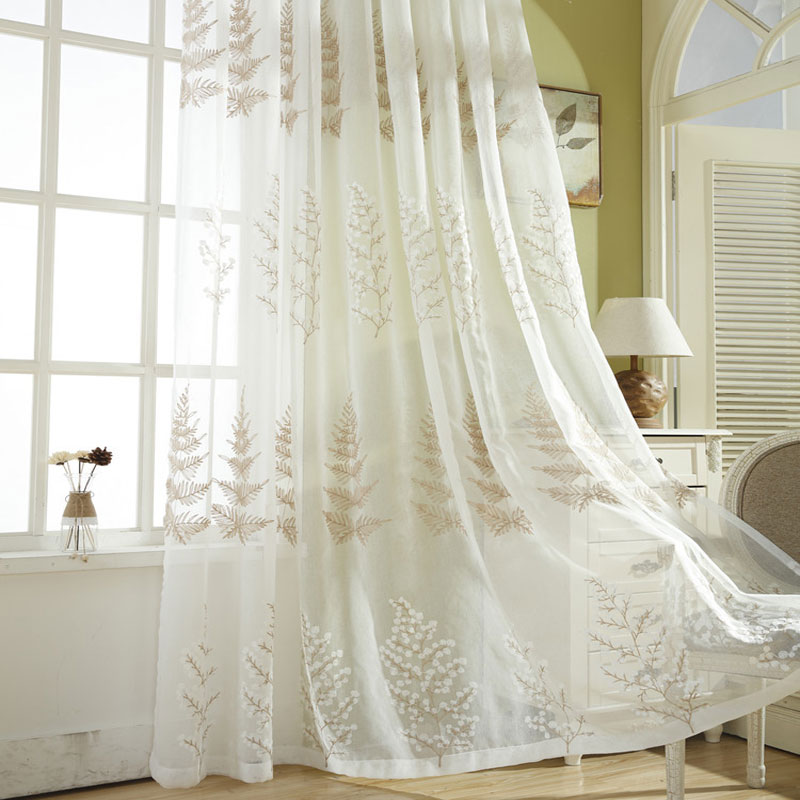 White Lace Curtains For Short Kitchen Blinds Voile