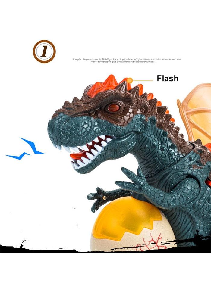 tyrannosaurus balançando cabeça flash olhos ovos andando