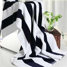 100% cotton striped bath towel 140x70cm thick absorbent beach towel drying washcloth swimwear shower towels