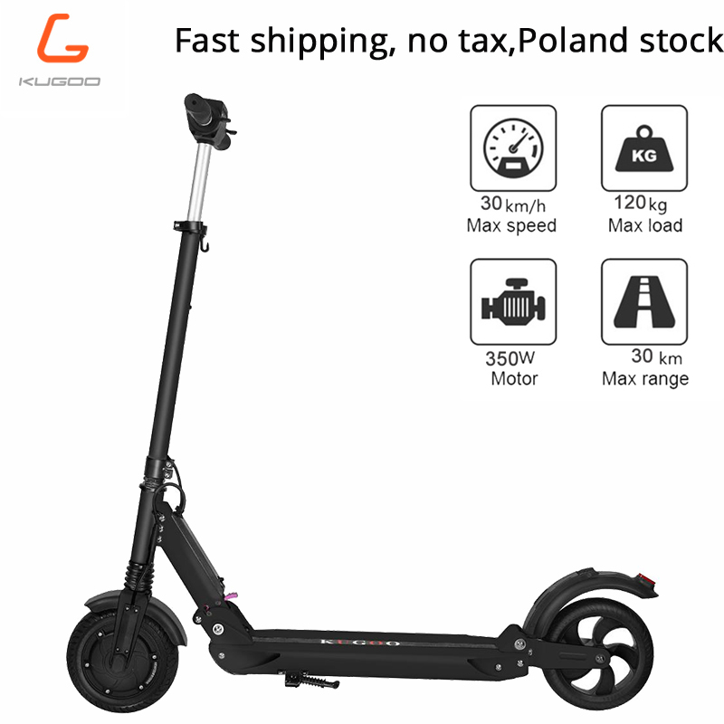 Poland stock No tax KUGOO S1 Electric Scooter Adult Electric Scooter 350W Folding 3 Speed