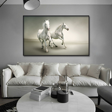 Aesthetic power Horse Animals Oil Painting Artistic Canvas Art Gold Posters and Prints Modern Wall Picture For Living Room