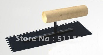 NCCTEC Notched Trowel 5mm X 5mm Teeth Wooden Handled