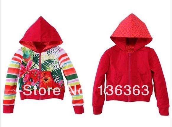 Catimini niña abrigos deportivos niños cremallera ropa superior sin forro 2014 del otoño del resorte francesa chaqueta ambos lados camisa de sleevesweat