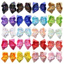New 8- inch extra large gilt bow unicorn hairpin bubble clip baby headband hair accessories childrens holiday gifts