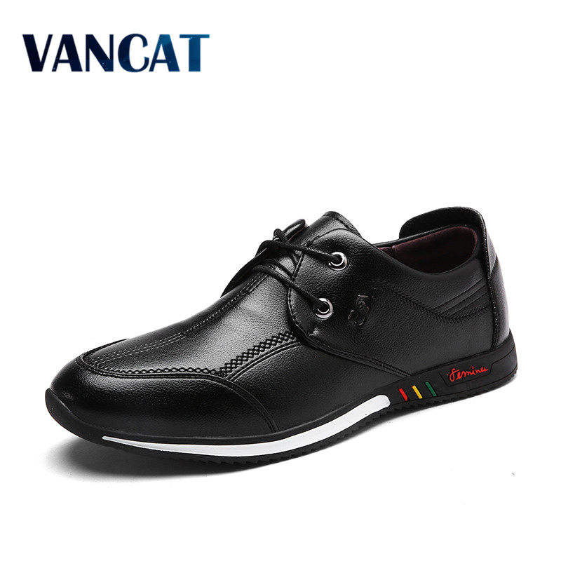 VANCAT Spring And Autumn Fashion  Mens Loafers Fashion Breathable Men Casual Leather Shoes Brand Designers Moccasins Men Shoe цены онлайн