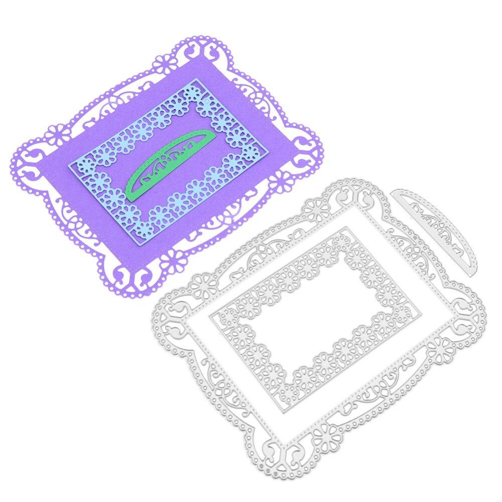 Lace Frame Metal Cutting Dies Stencils for DIY Scrapbooking/Photo Album/Card Making Decorative Dies Embossing Stencil Craft