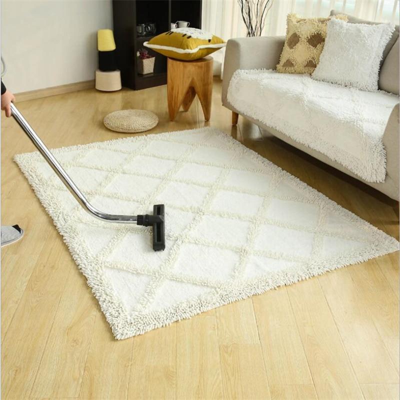 Simple Cotton Soft Hand Woven Design Carpets For Living Room Bedroom Kid Room Rugs Home Carpet Delicate Floor Door Mat Area Rug - 2