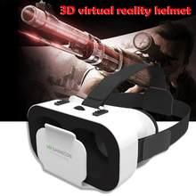 Portátil 3D VR Óculos 5th Gerações 3D Papelão Capacete Óculos de Realidade Virtual VR Com Fones de Ouvido Estéreo para o Telefone Móvel