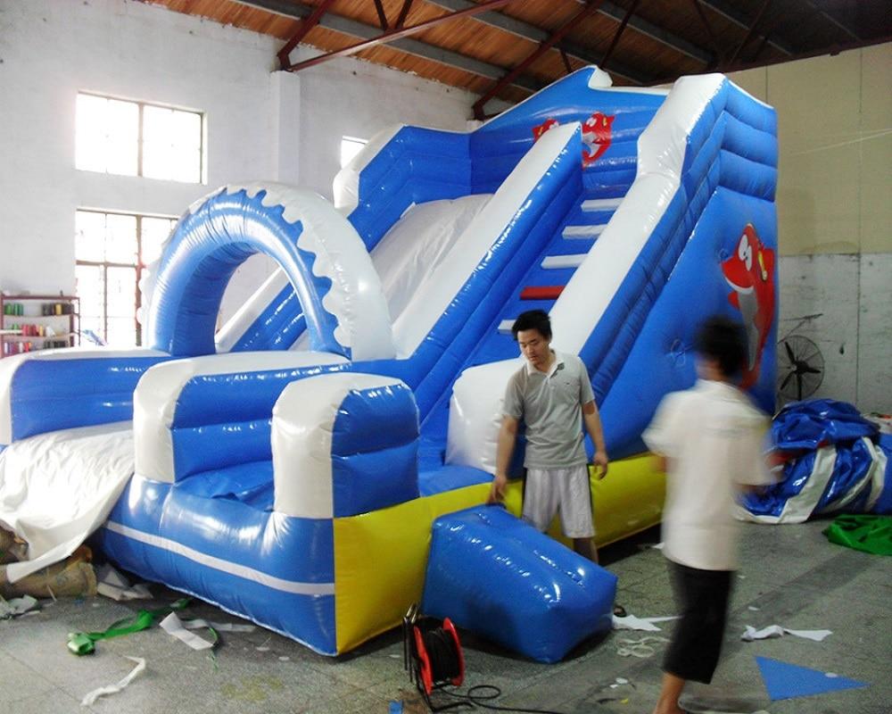 PVC anak-anak bermain slide tiup komersial slide tanah tiup untuk - Hiburan - Foto 3