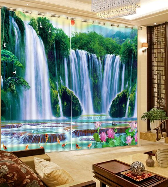 Online Shop modern bedroom curtains 3d window curtain Nature ...