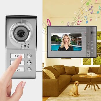 3 Apartment Units 7in Video Door Phone Intercom Doorbell IR Camera Entry System Home Secrity door bell