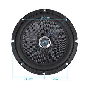Image 5 - 1 sztuk 6.5 Cal Audio samochodów średniotonowy głośnik basowy kina domowego 4 Ohm włókna szklanego Bullet głośnik niskotonowy DIY nagłośnienie