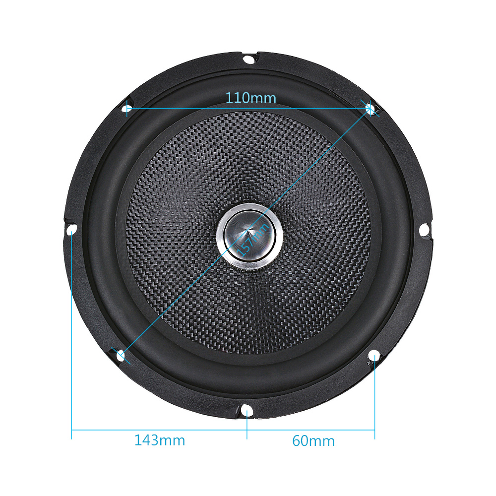 Image 4 - AIYIMA 6.5 Inch Audio Car Midrange Bass Speakers Home Theater 4 8 Ohm 60W Glass Fiber Bullet Woofer Loudspeaker DIY Sound System-in Coaxial speakers from Automobiles & Motorcycles