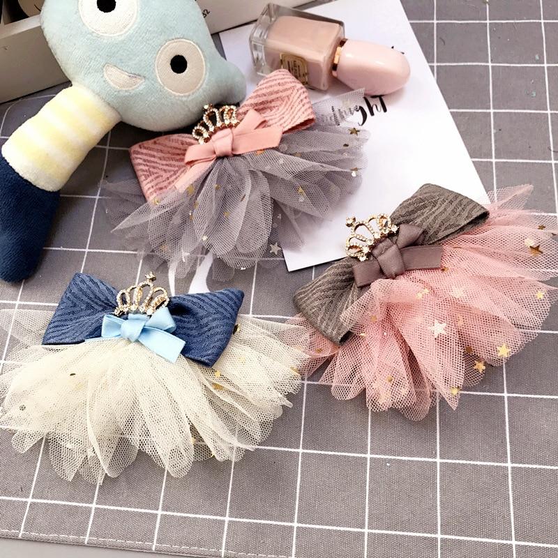 korea handmade cute lace bow knot