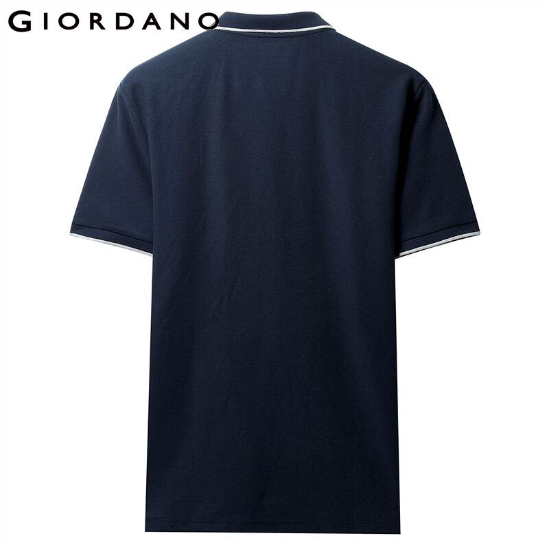 Image 3 - Giordano Men Polo Shirt Men Pique Fabric Slim Fit Short Sleeves Contrast Color Polo Men Shirt Smooth Durable Camisa Polo-in Polo from Men's Clothing