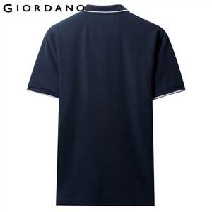 Image 3 - Giordano Men Polo Shirt Men Pique Fabric Slim Fit Short Sleeves Contrast Color Polo Men Shirt Smooth Durable Camisa Polo