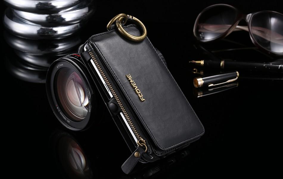 Floveme retro skóra telefon case do samsung galaxy note 3 4 5/s7/s6 edge plus metalowy pierścień coque karty portfel ochronne pokrywa 15