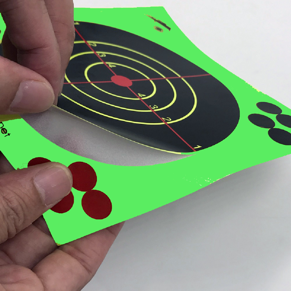 100pc tactical self-adhesive adhesive 14 * 14 cm for rifle pistol granulation gun air gun reactive shooting target high quality