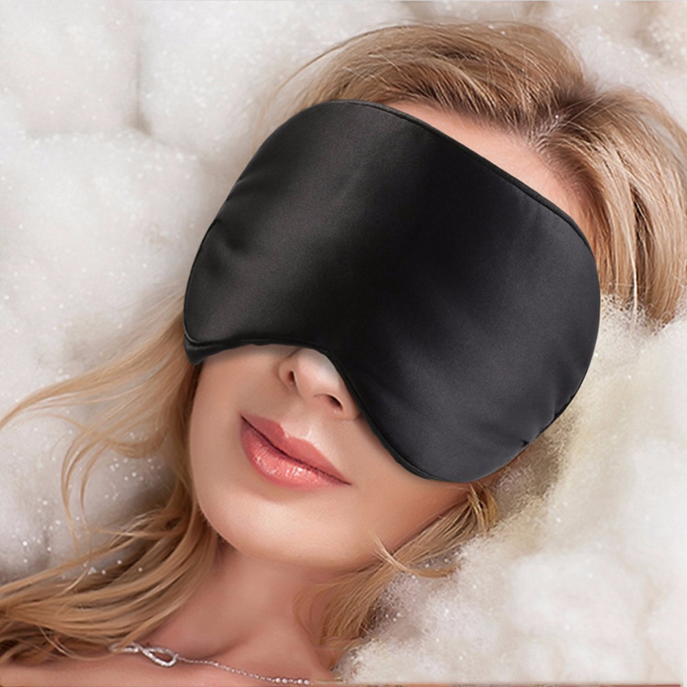 Natural Silk Sleep Mask Blindfold Super Smooth Eye Mask Nose Shape Sleeping Face Mask