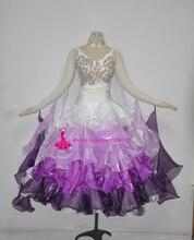 Ballroom Dance Costume Women High Quality White Waltz Tango Flamenco Stage Wear Adult Standard Ballroom Dance