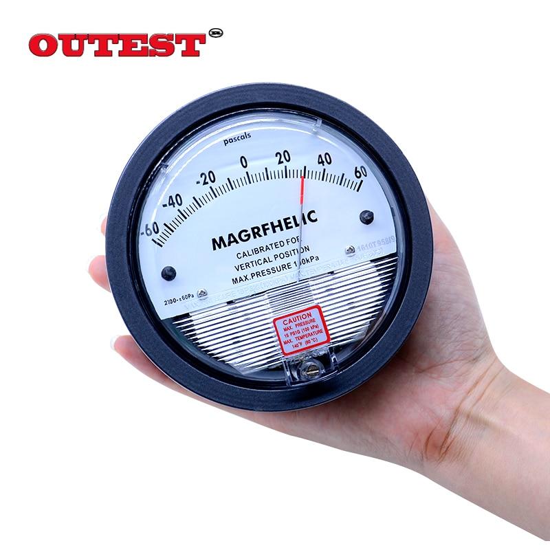 +/-1000pa negative pressure meter Manometer gas industry Professional Digital Analog differential pressure gauge 500 to 500pa micro differential pressure gauge high te2000