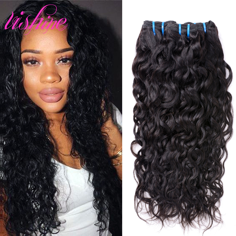 vishine indian water wave virgin hair 3 bundles indian virgin hair curly weave human hair indian. Black Bedroom Furniture Sets. Home Design Ideas