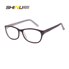Anti Blue Light Reading Glasses Women Antifatigue Long Sight Eyewear UV400 Protection Acetate Eyeglasses Oculos De Leitura LD016