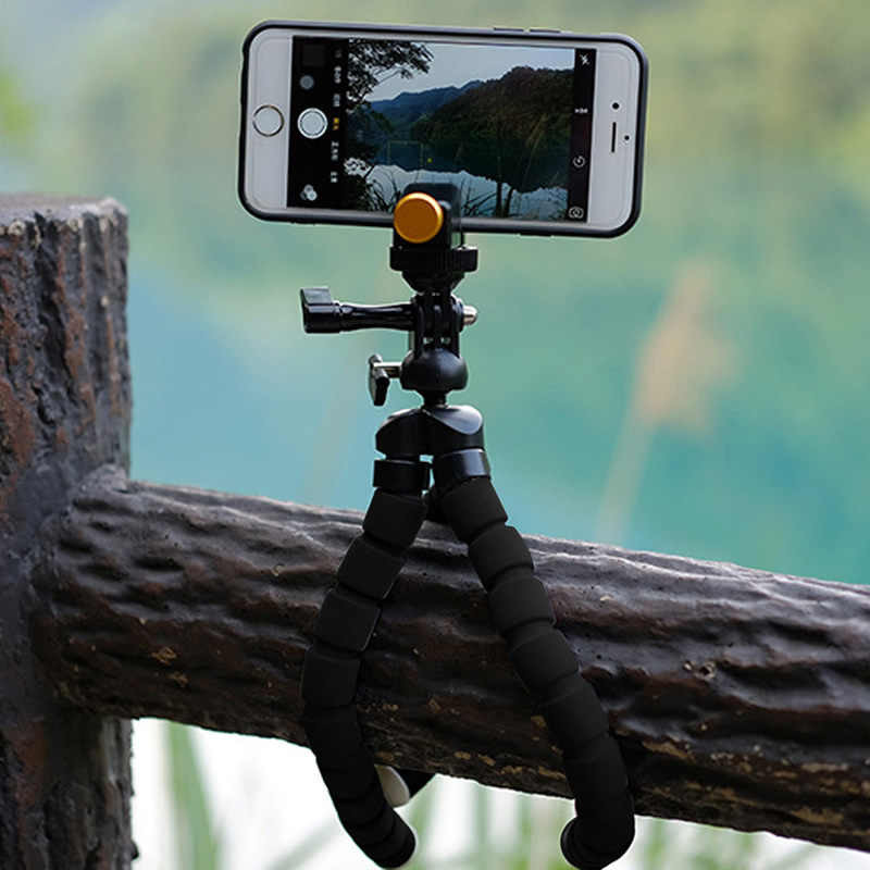1 Set New Camera Phone Holder Flexible Octopus Tripod Bracket Stand Mount Monopod Styling Accessories For phone on-clip Camera