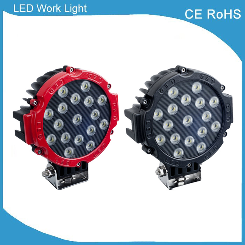 1xHIGH POWER 7 51W LED WORK WORKING DRIVE DRIVING LIGHT LAMP FOR OFF ROAD UTE 12V 24V 4x4 4WD BOAT SUV TRUCK TRAILER MOTORCYCLE 45w off road led flood work lamp light truck suv boat mining ute 4x4 trailer 12v 24v led work light for heavy duty machine