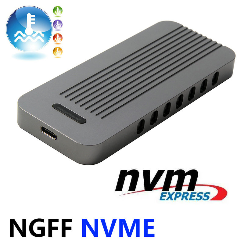 PCIe M.2 Nvme SSD to USB C Enclosure M2 NGFF PCIe M Key To USB Reader Adapter With USB 3.1 Type C to C cable vakind 100x41mm m 2 nvme ssd ngff to pcie 16x 4x adapter expansion card pcie nvme m 2 ssd to pcie card with heatsink heat sink