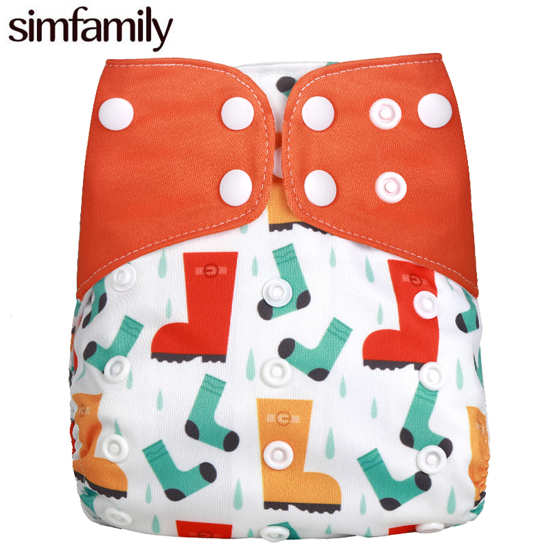 [simfamily]1PC Reusable Pocket Cloth Diaper