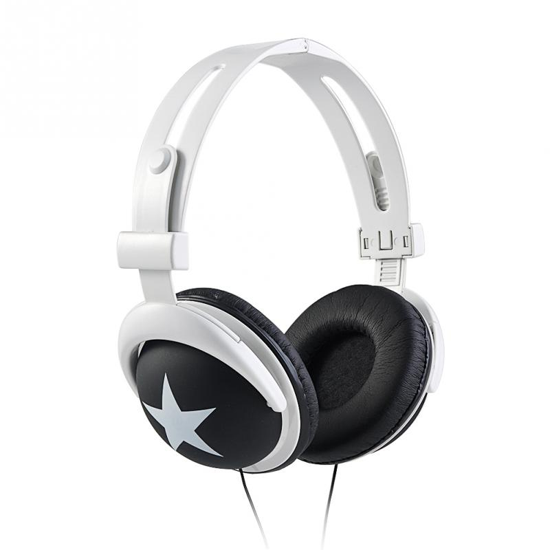 SOKELY 9 color Big Star Pattern Sports Style Head Type Mega Bass Earphone Headphone For 3.5mm