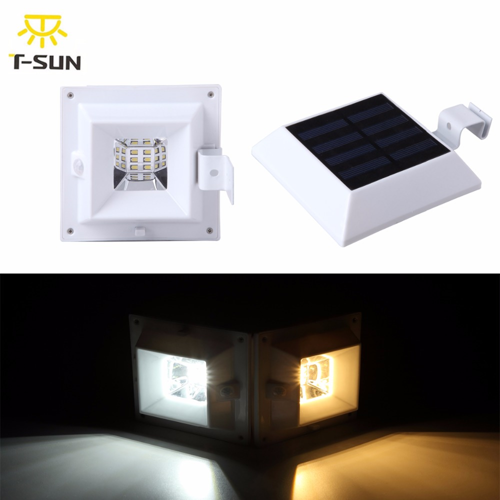 4pcs Pack 6 Leds Solar Wall Light With Motion Sensor Outdoor Lighting Led Light For Garden Lighting Solar Lamp