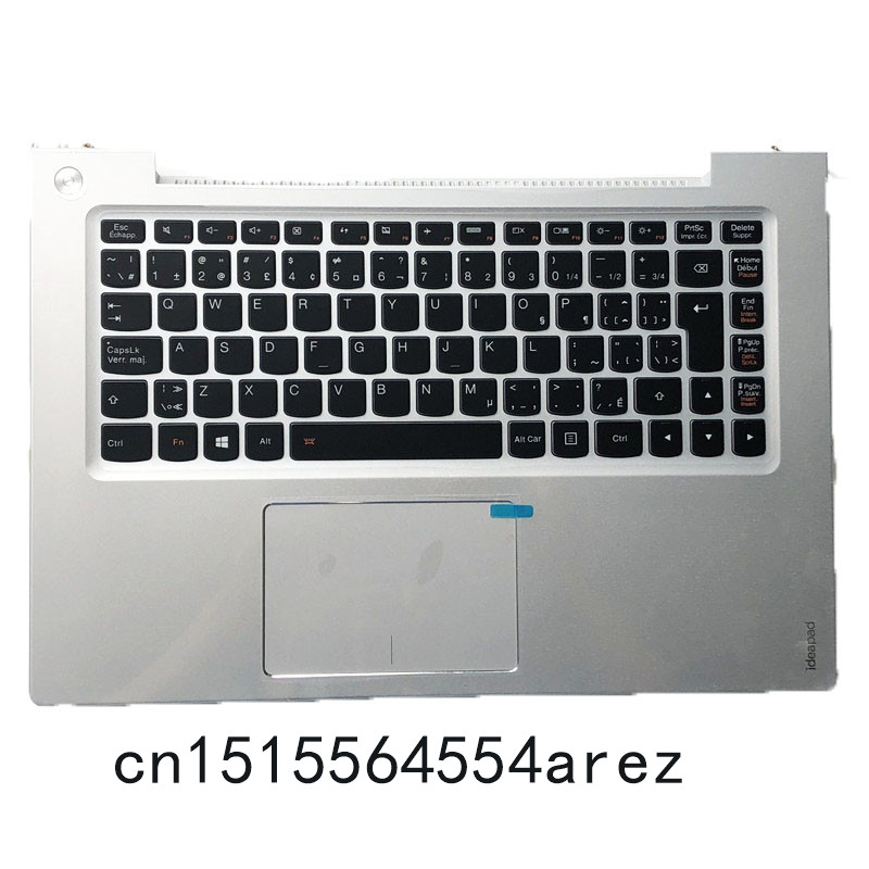 New Original laptop Lenovo U430 U430P Touchpad Clickpad Palmrest cover case /The Backlit keyboard cover Silver CFR 90203169 цена
