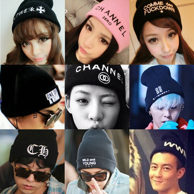 Winter in South Korea turtleneck cap knitting hat man fluorescence ms hip-hop qiu dong the day
