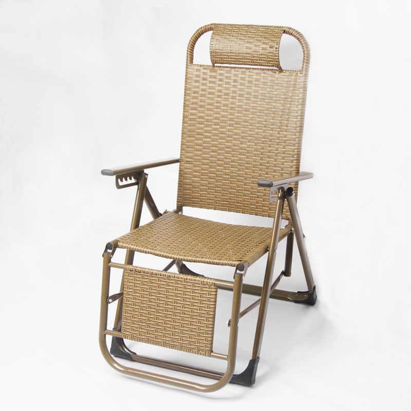 Стул для отдыха, складной плетеный стул, двухслойный ротанговый ланч-брейк, свободное офисное кресло для сна пляжный стул для улицы