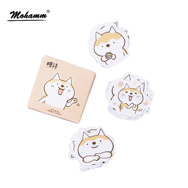 45pcs/lot Cute Dogs Decorative Diy Diary Stickers Post It Kawaii Planner Scrapbooking Sticky Stationery Escolar School Supplies 45pcs lot cute cup of animals diary sticker post it kawaii planner scrapbooking sticky stationery escolar school supplies