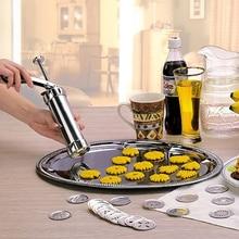 Hohe qualität Aluminiumlegierung Drücken Plätzchen kekse Maschine 20 Designs Cookies Biskuitform Extruder Küche ZH786
