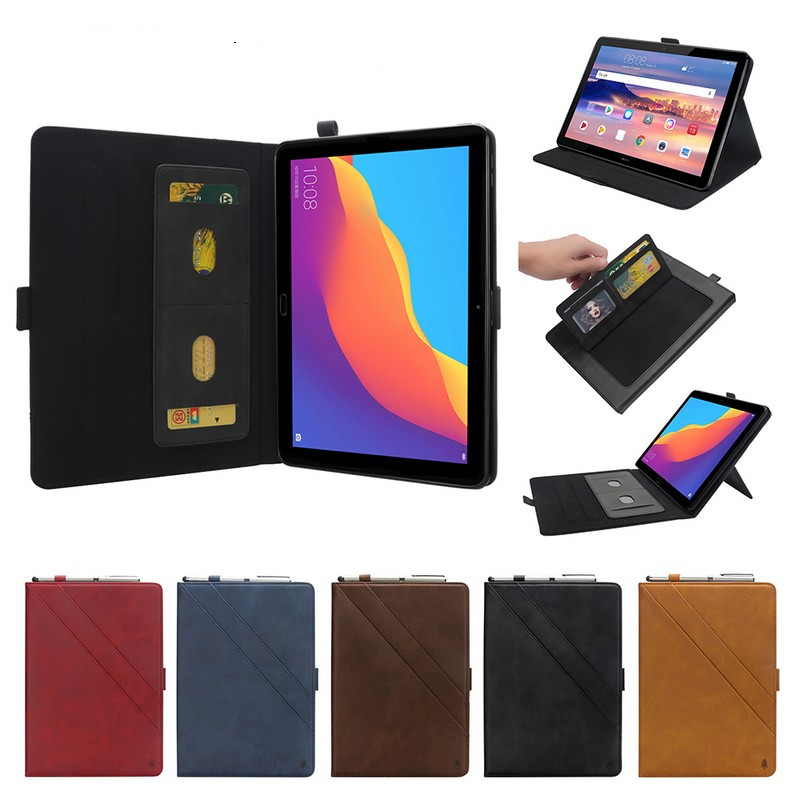For Huawei Mediapad T5 10 Cover Case Leather Double Holder Case For Mediapad T5 10 AGS2-L09 L03 W09 W19 10.1