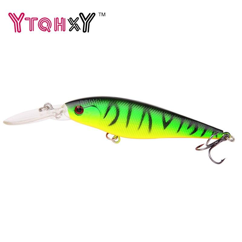 1PCS 11cm 10.5g Minnow fishing lure crankbait iscas artificiais Fishing wobblers 6# hook 3D eyes leurre Fishing Tackle WQ73 Рыбная ловля