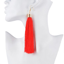 FUNIQUE Popular Ethnic Long Tassel Earrings Simple Earring Jewelry 2018 Vintage Women Brand Geometric Alloy Plating Dropshipping(China)