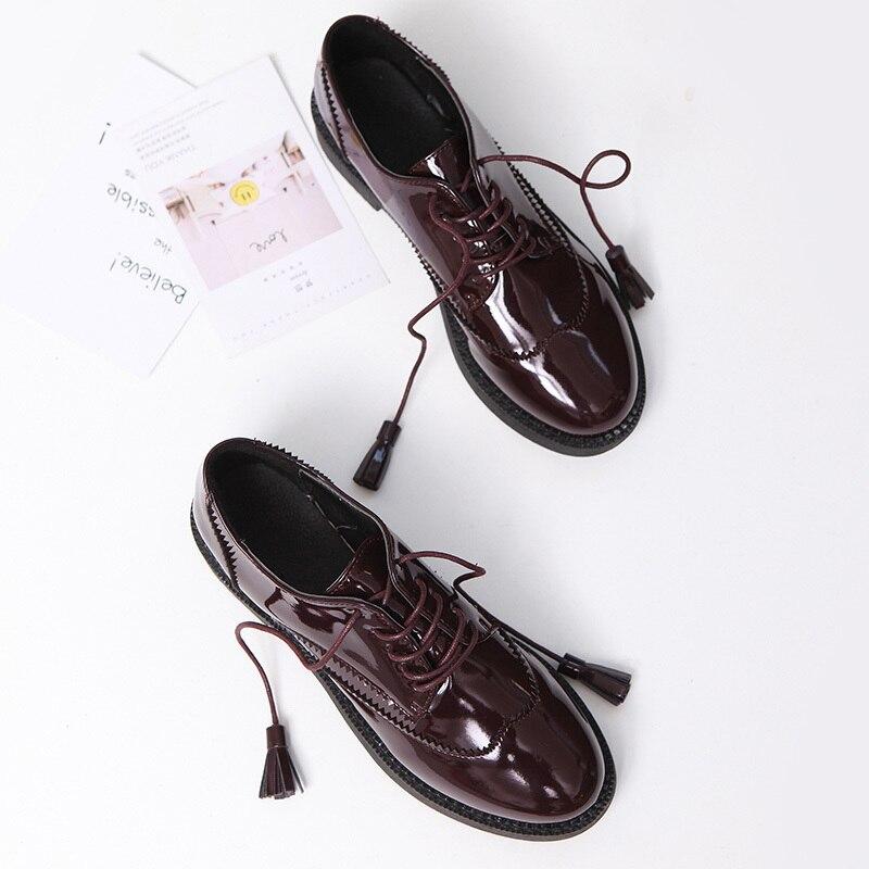 Con Otoño Y Planos Tinto Cómodos Portátiles vino Negro Nuevos Flecos Flecos Zapatos Transpirables Primavera z45qzw