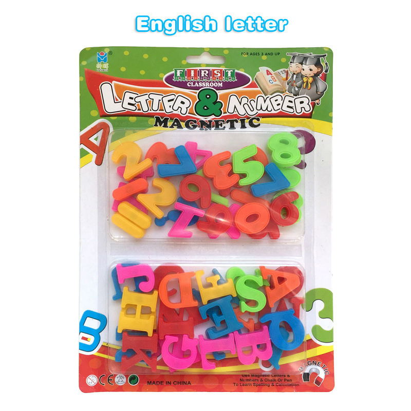 unisex kids educational toy letters numbers magnet magnetic puzzle plastic symbol alphabet learning fridge foam