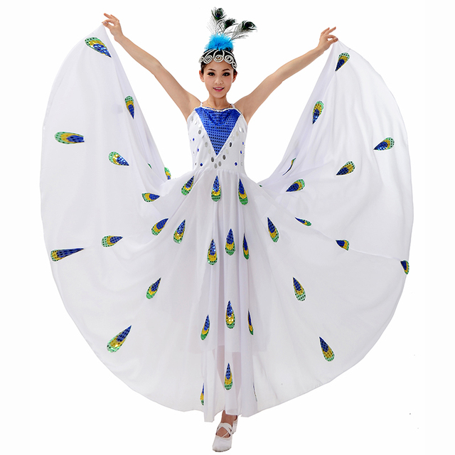 a1c40cbfb7b4 chinese costume stage dance wear peacock costumes chinese dance ...